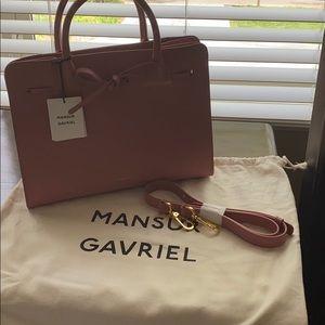 Mansur Gavriel blush leather sun bag